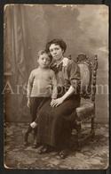Photo Postcard / Foto / Photograph / Mother / Mère / Boy / Garçon / Photographie J. Van Der Heyden / Antwerpen - Photographie