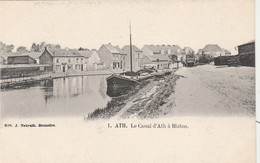 ATH ,  Le Canal ATH à BLATON , ( Péniche ) - Ath