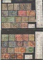 TIMBRES LOT DE SUISSE OBLITERE /*/ Nr VOIR SUR PAPIER AVEC TIMBRES  COTE 225.40€ - 1882-1906 Armoiries, Helvetia Debout & UPU