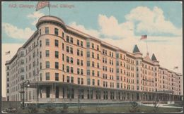 Chicago Beach Hotel, Chicago, Illinois, 1913 - Acmegraph Co Postcard - Chicago