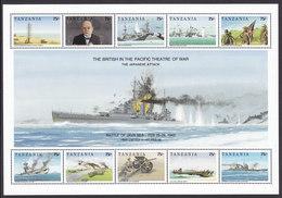 Tanzania, Scott #824, Mint Never Hinged, World War II In The Pacific, Issued 1992 - Tanzania (1964-...)