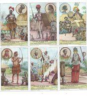 18 Chromos CONGO Afrique LIEBIG Peuplades Du Congo Belge Série Complète 110 X 70 Mm Neuve TB  6 Scans - Liebig