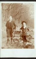 Photo Postcard / Foto / Photograph / Boys / Garçons / Forêt / Forest / Unused - Photographie