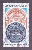 1801 France 1974 Oblitéré  Tricentenaire De La Fondation De L'Hotel Des Invalides - Gebraucht