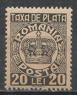 Romania 1946. Scott #J92 (MH) Crown * - Port Dû (Taxe)