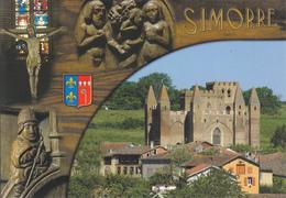 32 SIMORRE  / MULTIVUES  / BLASON/ EGLISE ABBATIALE - France