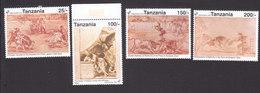 Tanzania, Scott #862-865, Mint Hinged, Spanish Art, Issued 1992 - Tansania (1964-...)