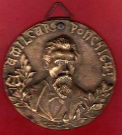 MEDAILLE Bronze AMILCARE PONCHIELLI Compositeur Italien D 'opéra Né à CREMONE 1834 - 1886  ITALIE Compositore Di (pian - Musique & Instruments