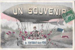 FONTENAY-St-PERE -- Souvenir -(Fantaisie  ,avec Ballon Dirigeable ) - Altri Comuni