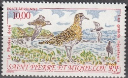 Saint-Pierre Et Miquelon 1993 Yvert Poste Aérienne 73 Neuf ** Cote (2015) 4.60 Euro Le Pluvier Doré - Poste Aérienne