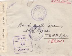 Lettre Irak, Basrah-Taheran 1943, Scan R/V. - Iraq