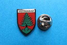 Pin's, Ville, Blason, VEYSONNAZ, Sapin - Cities