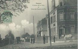 Samer - Avenue De La Gare Et Hotel Du Chemin De Fer - Samer