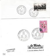 Congrès Anatomie Paris 1955 & Tours 1968 - Médecine Santé Health Anatomik - Poststempel (Briefe)
