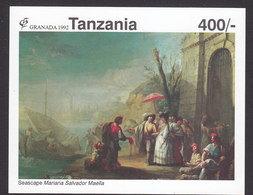 Tanzania, Scott #866, Mint Never Hinged, Art, Issued 1992 - Tanzania (1964-...)