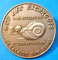 BROCHE MCP LES ESCARGOTS 9-10 OCTOBRE 1993 3e CONCENTRATION 38 SALAISE SUR SANNE - Other Collections