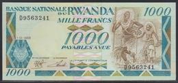 Rwanda 1000 Francs 01.01.1988 UNC - Rwanda