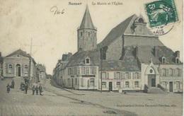 Samer - La Mairie Et L'Eglise - Samer