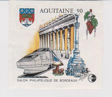 BLOC CNEP  N°12/NEUF AQUITAINE 90 / N° 39690 AU DOS / COLLE TRES LEGEREMENT ABIMEE AU DOS (cf Scan) - CNEP