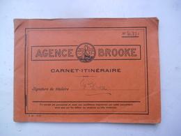 Boekje AGENCE BROOKE   Carnet- Itiéraire  1938  Van H. PIEZ - Autres