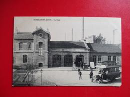 CPA 54 HOMECOURT JOEUF LA GARE AUTOBUS ANCIEN - Homecourt