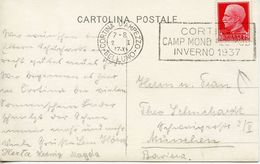 ITALY -  1937 CORTINA CANCEL   FDC3828 - Winter (Other)