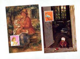 4 Carte Maximum 1987 Pro Juventute Enfant - Cartes-Maximum (CM)