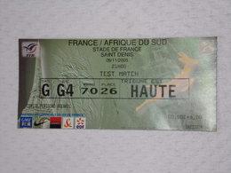 Ticket Original D'Entrée Match De Rugby : FRANCE / AFRIQUE DU SUD Du 26/11/2005 Au STADE DE FRANCE - Toegangskaarten