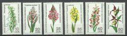 """DDR 2135-40 """"Heimische Orchideen, 6 Briefmarken Im Satz Kpl."""" Postfrisch Mi.-Preis 3,80 - Orchidées"""