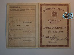 ITALIA CARTA D'IDENTITà VECCHIA DEL COMUNE DI TRIESTE - Vecchi Documenti
