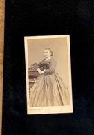 Photographie CdV : Femme Robe Empire C.1860-70 / Photographe ED. WETTSTEIN Fils 15 Rue David à VERVIERS Belgique - Anonymous Persons