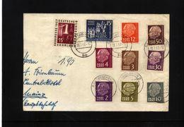 Saarland 1957 Interessanten Brief - 1957-59 Bundesland