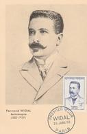 Docteur Widal 1958 Bactériologiste - Médecin  - Santé Health - Cartes-Maximum