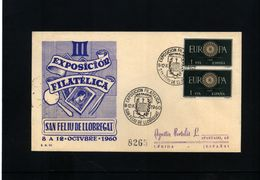 Spain  1960 Philatelic Exibition San Feliu De Llobregat - 1951-60 Briefe U. Dokumente