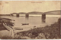 PLZ 46483  - WESEL - Eisenbahn - Rheinbrücke - Militär Post Belgien -  Besetzung Belgien 1920 - Wesel