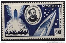 """Monaco Aerien YT 60 (PA) """" Jules Verne """" 1955 Neuf** - Poste Aérienne"""