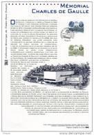 """FRANCE 2008 : """" MEMORIAL CHARLES DE GAULLE """" Sur Document Philatélique Officiel  N° YT 4243. DPO. (Prix à La Poste 5 €) - De Gaulle (Général)"""
