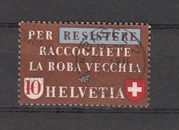 1942  N°  256 OBLITERE        CATALOGUE ZUMSTEIN - Suisse