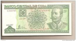 Cuba - Banconota Non Circolata Da 5 Pesos P-116a - 1997 - Cuba