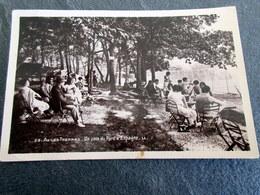 CPSM Animée - AX Les THERMES (09) - Un Coin Du Parc D'Espagne - 1949 - Andere Gemeenten