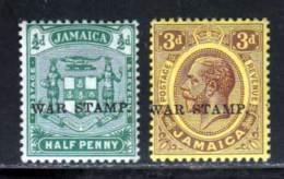 Jamaique 1916 Yvert 69 / 70 ** TB - Jamaica (...-1961)