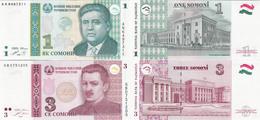 Tajikistan 1999-2010 - Set 1+3 Somoni - Pick 14-20 UNC - Tajikistan