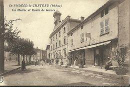 Saint Andeol Le Chateau La Mairie Et Route De Givors - France