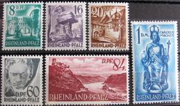 Lot FD/985 - 1948 - ALLEMAGNE / OCCUPATION FRANCAISE - ETAT RHENO-PALATIN - N°24 à 29 NEUFS*(quasi**) - Cote : 23,50 € - Zone Française
