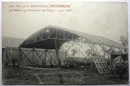 """LES HANGARS DÉMONTABLES """"BESSONNEAU"""" AU MEETING D'AVIATION DE L'ANJOU ( JUIN 1910 ) - ....-1914: Vorläufer"""