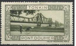 Indochine Tonkin Vignette Erinnophilie Pont Doumer Verte - Indochina (1889-1945)