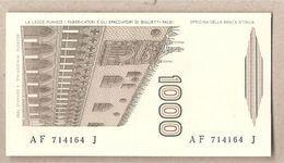 """Italia - Banconota Non Circolata FdS Da 1000 £ """" Marco Polo"""" Lettera F - 1988 - [ 2] 1946-… : République"""