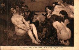 Tableau 488 étienne Csok, Les Vampires (femme Nue - Peintures & Tableaux
