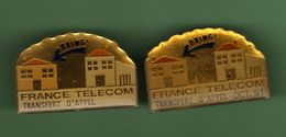 FRANCE TELECOM *** TRANSFERT D'APPEL DRING *** Lot De 2 Pin's Differents *** A033 - France Telecom
