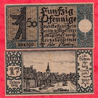 Allemagne 1 Notgeld 50 Pfenning  Stadt Berlin   état Lot N °116 - 1918-1933: Weimarer Republik
